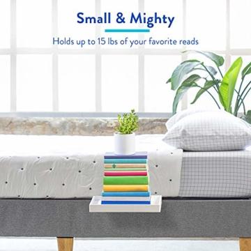 BedShelfie Slide Das Original Nachttisch Regal - 3 Farben / 3 Größen - GESEHEN AUF Business-Insider und Kickstarter (Slide, Bambus in Weiß) - 2