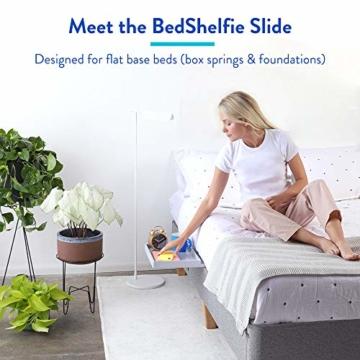 BedShelfie Slide Das Original Nachttisch Regal - 3 Farben / 3 Größen - GESEHEN AUF Business-Insider und Kickstarter (Slide, Bambus in Weiß) - 4