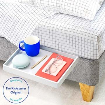 BedShelfie Slide Das Original Nachttisch Regal - 3 Farben / 3 Größen - GESEHEN AUF Business-Insider und Kickstarter (Slide, Bambus in Grau) - 1
