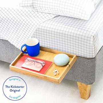 BedShelfie Slide Das Original Nachttisch Regal - 3 Farben / 3 Größen - GESEHEN AUF Business-Insider und Kickstarter (Slide, Bambus in Natürlich) - 1