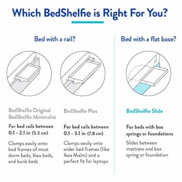 BedShelfie Slide Das Original Nachttisch Regal - 3 Farben / 3 Größen - GESEHEN AUF Business-Insider und Kickstarter (Slide, Bambus in Natürlich) - 2