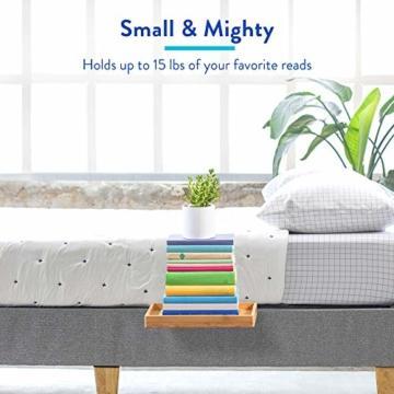BedShelfie Slide Das Original Nachttisch Regal - 3 Farben / 3 Größen - GESEHEN AUF Business-Insider und Kickstarter (Slide, Bambus in Natürlich) - 4