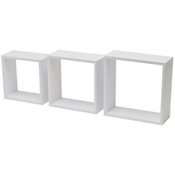 Duraline 3TC Dekoratives Wandregal, MDF, Weiß, 30 x 12 x 30 cm - 1