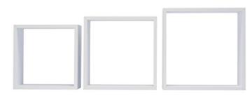 Duraline 3TC Dekoratives Wandregal, MDF, Weiß, 30 x 12 x 30 cm - 3