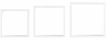 Duraline 3TC Dekoratives Wandregal, MDF, Weiß, 30 x 12 x 30 cm - 5
