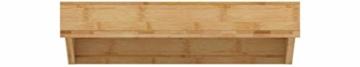 Relaxdays Bettablage, Mini-Nachttisch zum Anklemmen, aus Bambus, Getränkehalter D: 9 cm, platzsparender Organizer, Natur, Durchmesser - 2