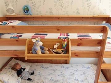 Weiß Bambus Hängeregal für Kinder Bett - 8