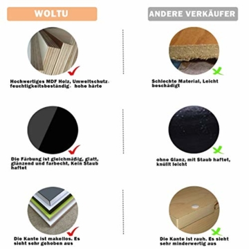 WOLTU RG9239bl Wandregal in U Form CD DVD Regal Bücherregal Regalsysteme, 3er Set Retro Hängeregal, Blau - 8